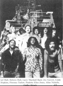 Inner City | The Ether Barrymore Theatre, 1971 | Carl Hall, Joy Garrett, Linda Hopkins, Florance Tarlow, Delores Hall, Paulette Ellen Jones, Allan Nicholls, Larry Marshall and Fluffer Hirsch | Photo: Bert Andrews