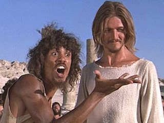 Jesus Christ Superstar, 1973 film | Larry Marshall as Simon Zealotes with Ted Neeley