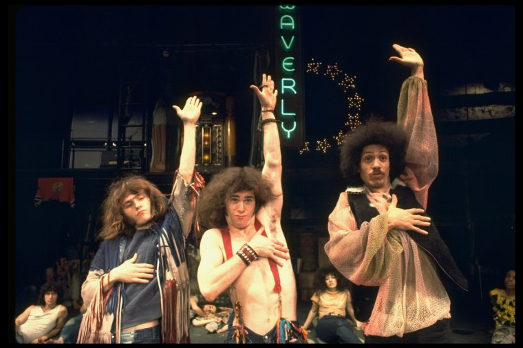 Larry Marshall in the Broadway production of the musical 'Hair' - photo by Martha Swope