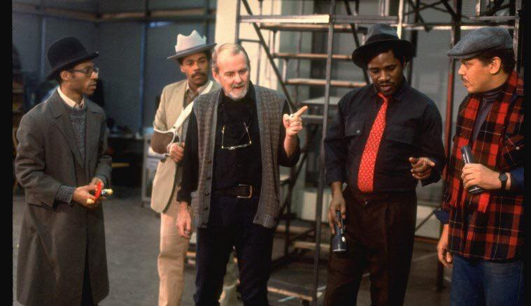 Big Deal Rehearsal with Bob Fosse! The actors are (L-R) Alde Lewis, Allan Weeks, Cleavant Derricks, and Larry Marshall
